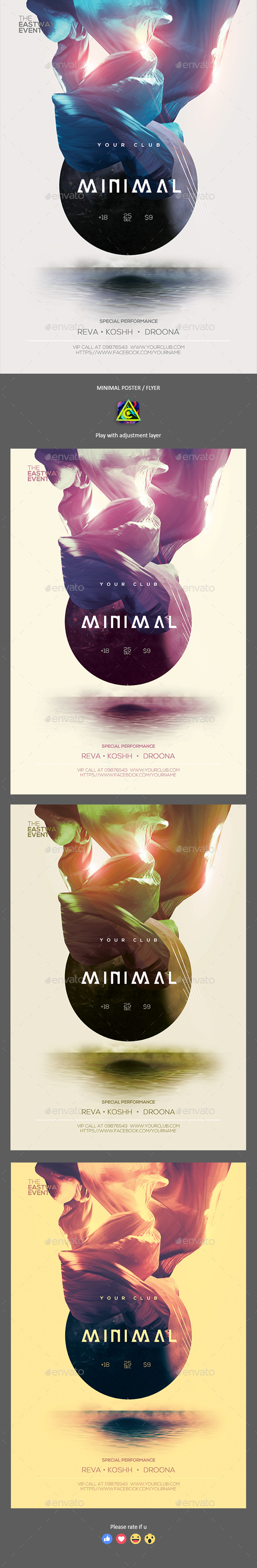 Minimal Party Poster / Flyer - Clubs & Parties Events