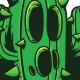 Green Cactus Character -  T-Shirt Design - GraphicRiver Item for Sale