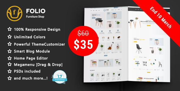 Folio - Furniture Responsive Prestashop 1.7 Theme