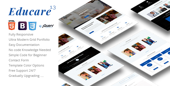 Image of Educare - Responsive Education Landing Template