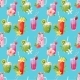 Watercolor Smoothie Vector Pattern - GraphicRiver Item for Sale