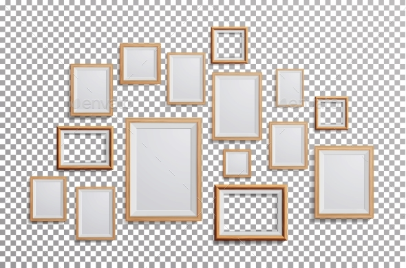 Realistic Photo Frame Vector. Set Square, A3, A4 - Miscellaneous Vectors