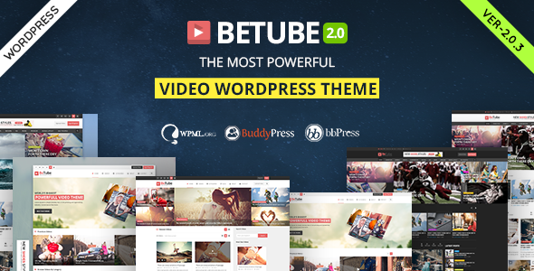 Betube Video WordPress Theme - Blog / Magazine WordPress
