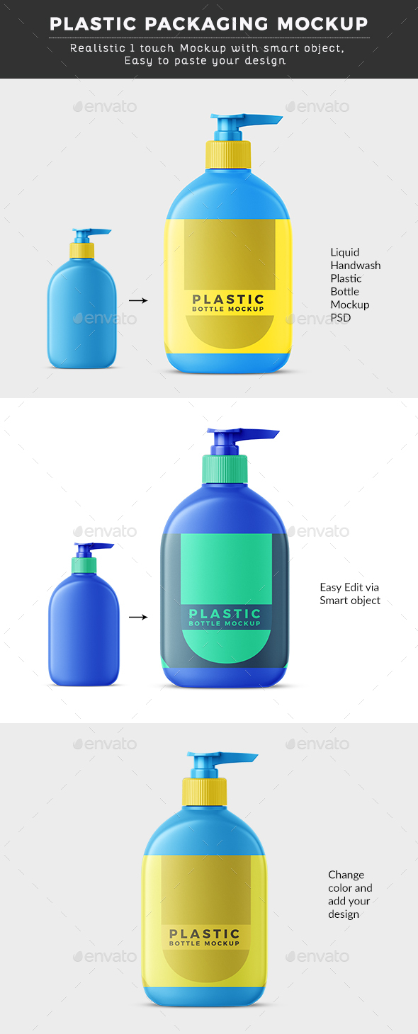 Liquid Hand wash Plastic Bottle Mock up - Miscellaneous Packaging