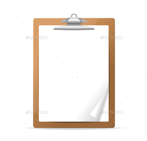 Realistic Detailed 3d Clipboard. Vector - Objects Vectors