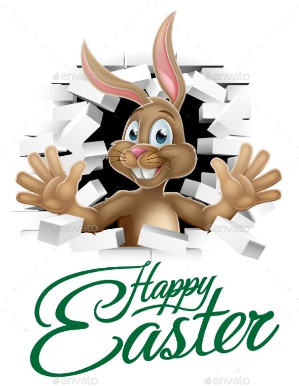 Happy Easter Bunny Sign - Seasons/Holidays Conceptual