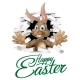 Happy Easter Bunny Sign - GraphicRiver Item for Sale