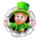 St Patricks Day Leprechaun Breaking Background - GraphicRiver Item for Sale