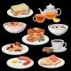 Set of Breakfast Icons. Sandwich, Tea, Coffee  - GraphicRiver Item for Sale