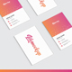 Business Card Portrait Mockup