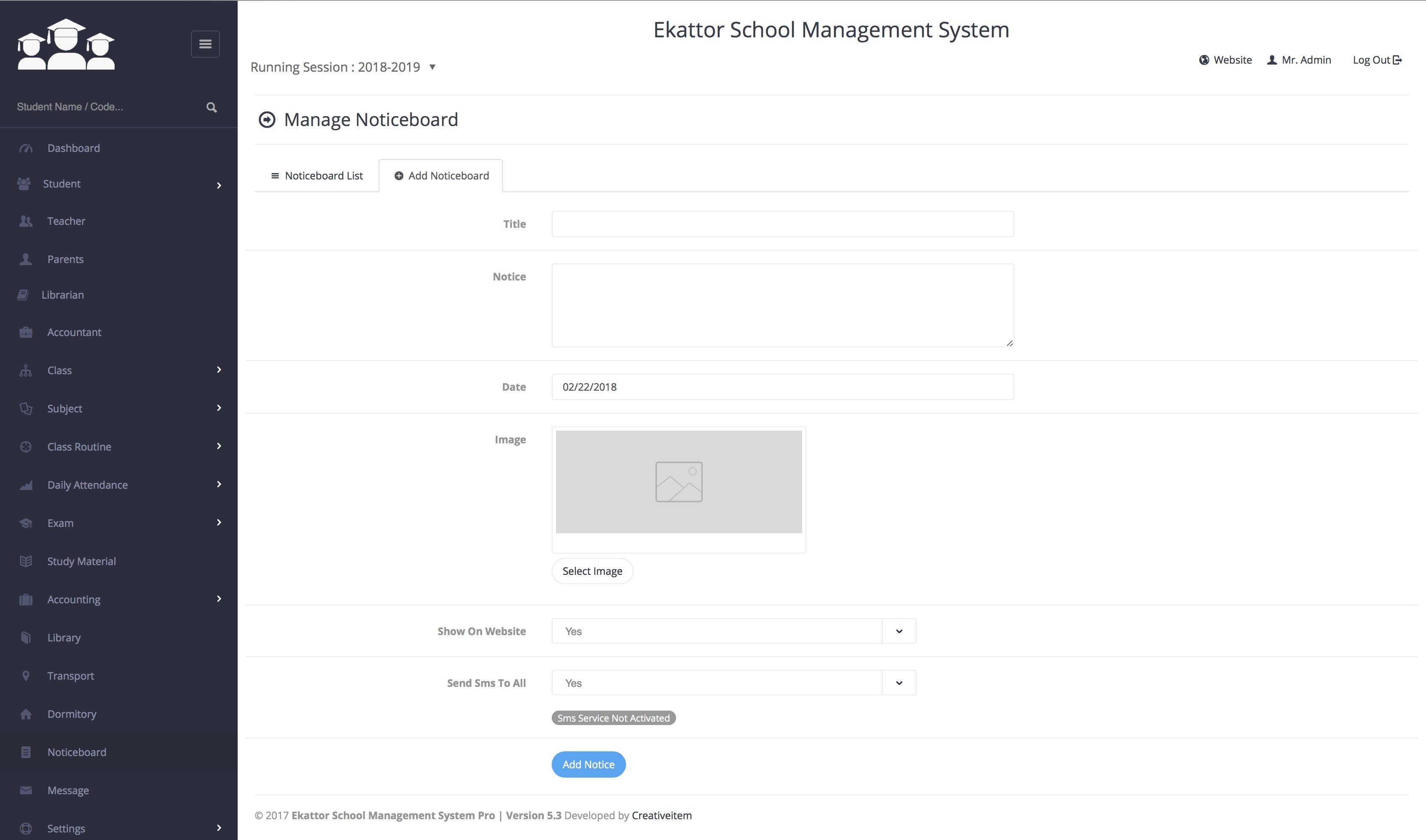 ekattor school management system pro by creativeitem codecanyon