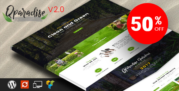 QParadise - Gardening and Landscaping WordPress Theme - Business Corporate