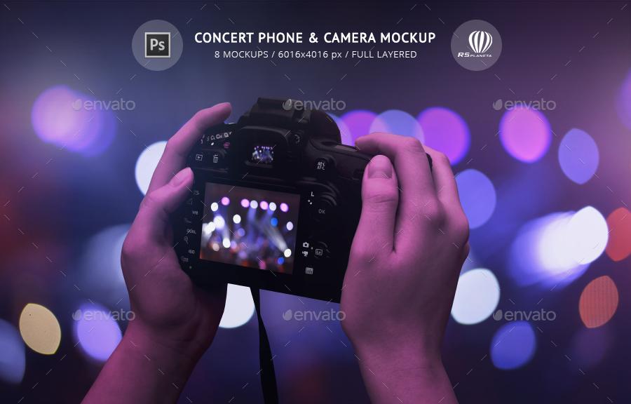 Concert Phone & Camera Mockup
