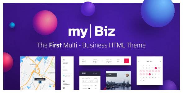 MyBiz - The First Multi-Business & Booking HTML Theme - Business Corporate