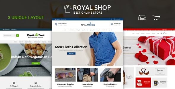 Royal Shop - OpenCart 2 & 3 Responsive Theme
