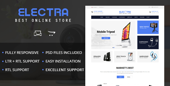 Electra - OpenCart 2 & 3 Responsive Theme - Technology OpenCart