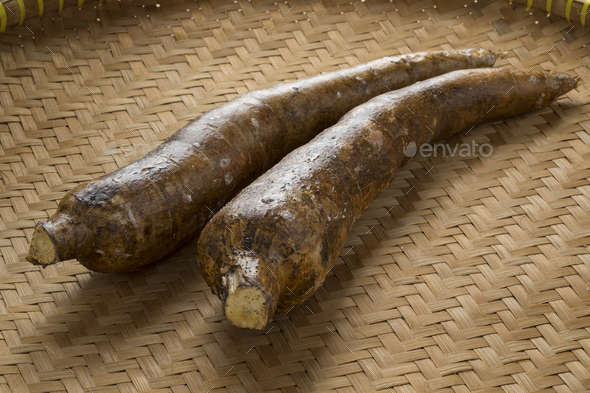 Cassava roots - Stock Photo - Images
