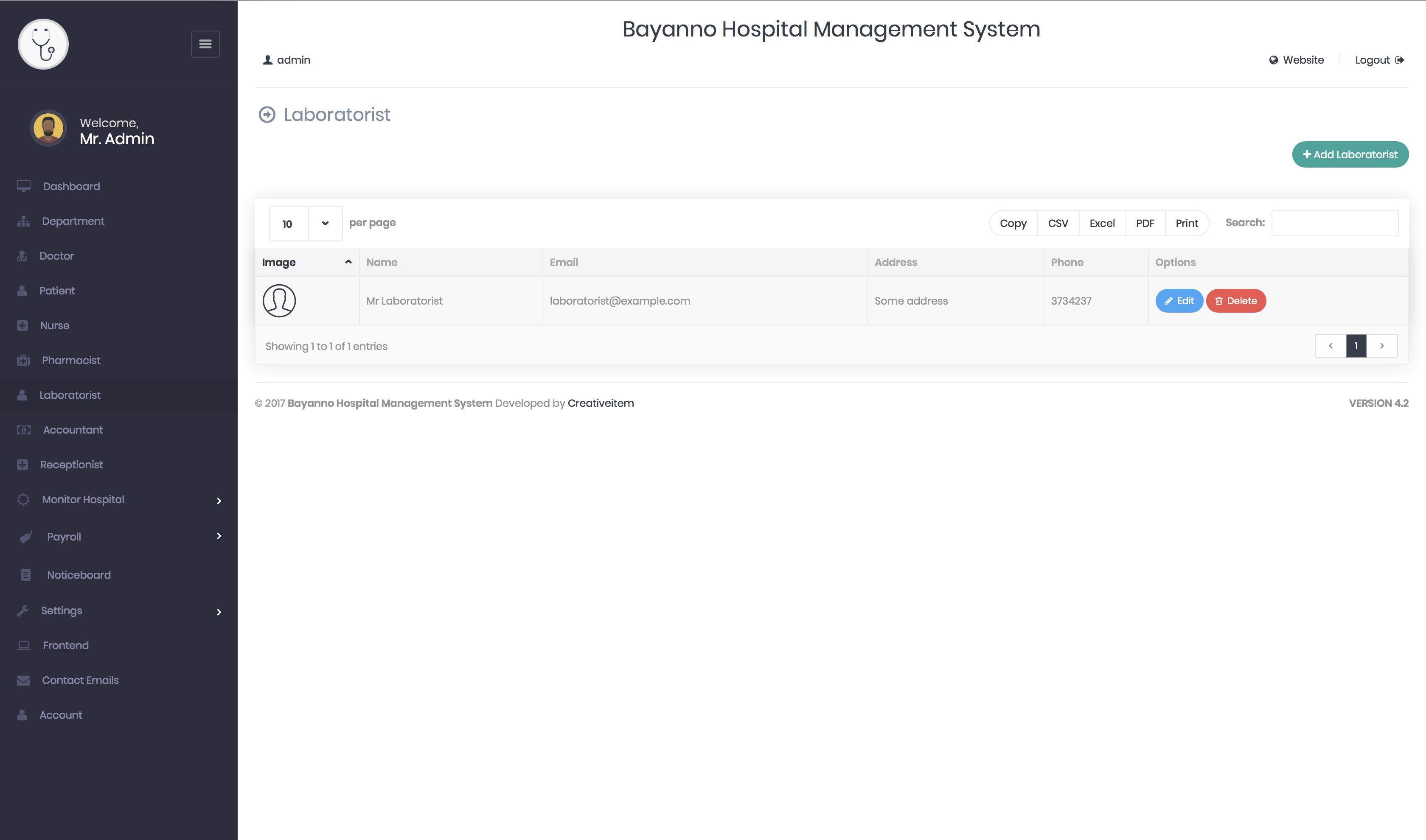 Bayanno Hospital Management System