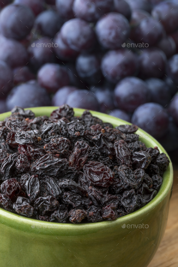 Bowl with dried currants - Stock Photo - Images