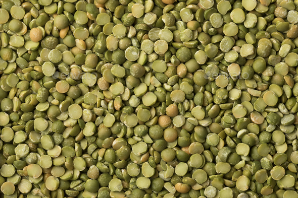 Green organic split peas close up - Stock Photo - Images