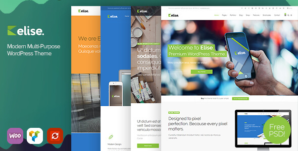 Elise - Modern Multi-Purpose WordPress Theme - Corporate WordPress