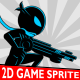 Ninja Shadow #1 Game 2D Character Sprite