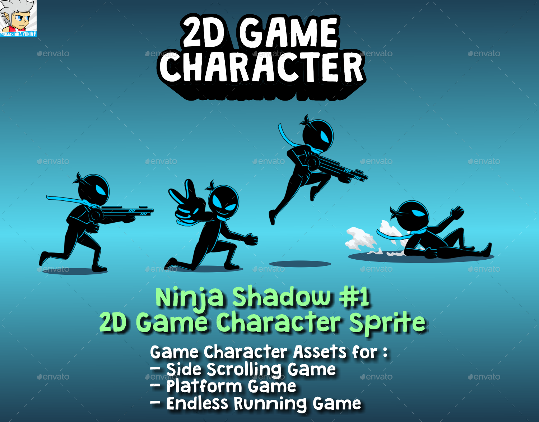 Ninja Shadow #1 Game 2D Character Sprite