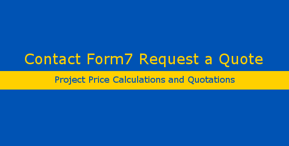 Contact Form 7 Request a Quote - CodeCanyon Item for Sale