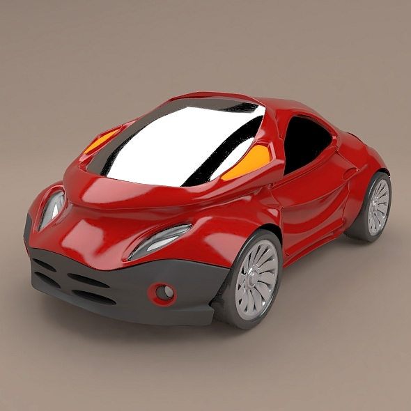 Futuristic city vehicle concept - 3DOcean Item for Sale
