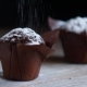 Muffin Cake with White Powdered Sugar. Seamless Cinemagraph Video - VideoHive Item for Sale