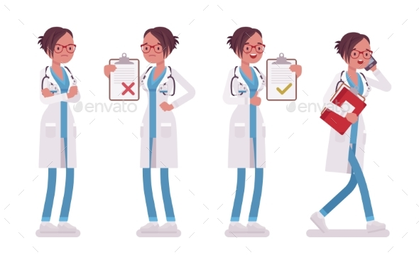 Female Doctor at Work - Health/Medicine Conceptual