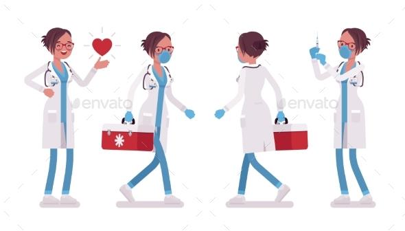 Female Doctor Working - Health/Medicine Conceptual