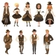 People Dressed in Historic Brown Clothes - GraphicRiver Item for Sale