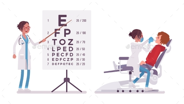 Female Dentist and Ophthalmologist - Health/Medicine Conceptual