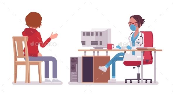 Female Doctor Therapist Consulting Patient - Health/Medicine Conceptual