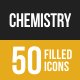 50 Chemistry Filled Low Poly Icons