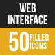 50 Web Interface Filled Low Poly Icons