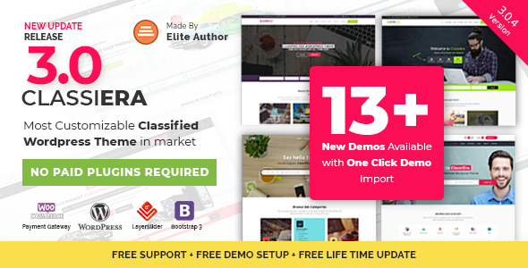 Classiera – Classified Ads WordPress Theme