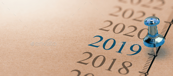 Year 2019  - Stock Photo - Images