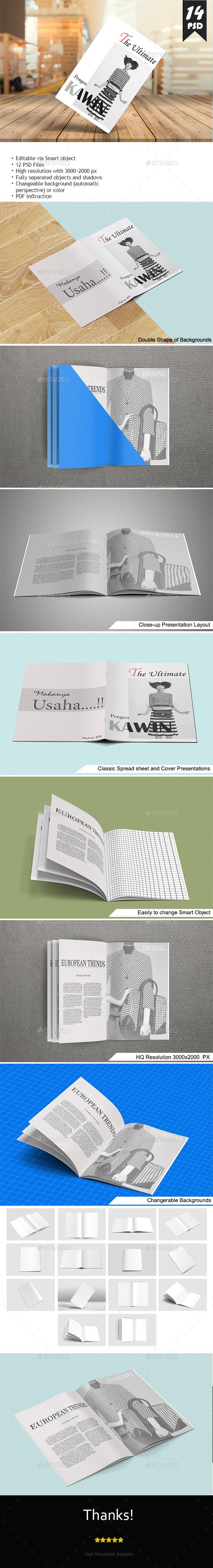 A4 Brochure Mockups - Brochures Print