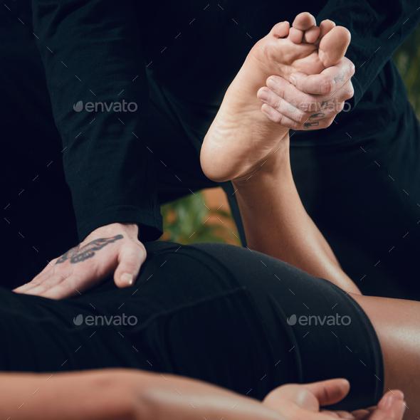 Shiatsu Back and Leg Massage - Stock Photo - Images