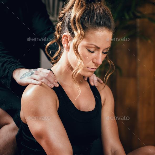 Shiatsu Back Massage - Stock Photo - Images