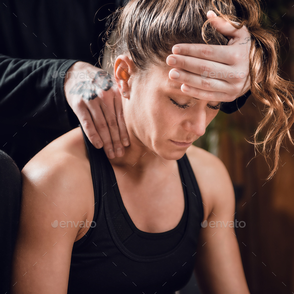Shiatsu Neck and Shoulders Massage - Stock Photo - Images