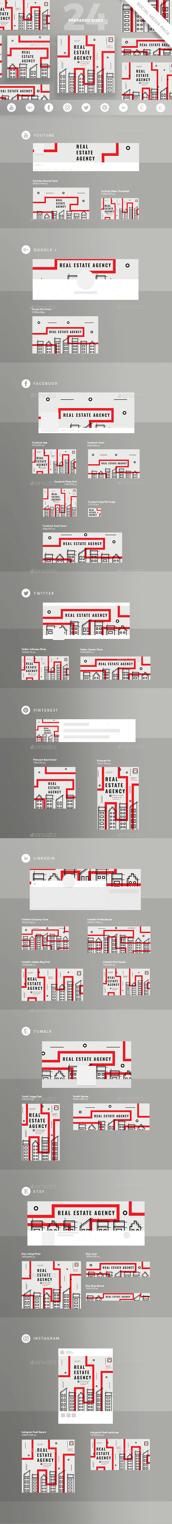 Real Estate Agency Social Media Pack - Miscellaneous Social Media
