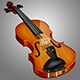 Beautiful Wooden Violin Icon
