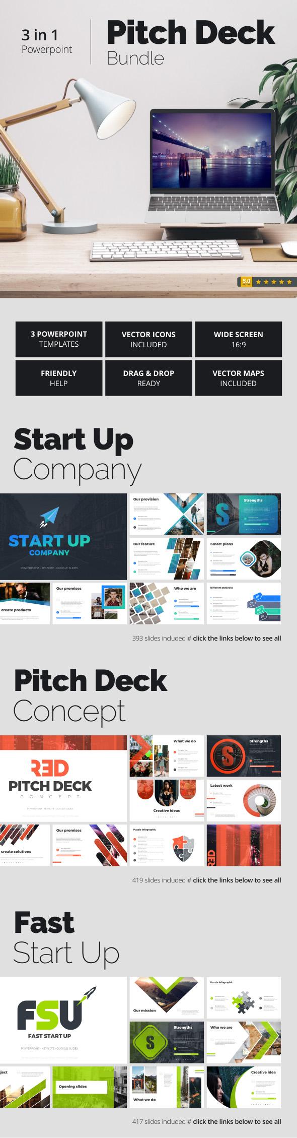 Pitch Deck Bundle - Pitch Deck PowerPoint Templates