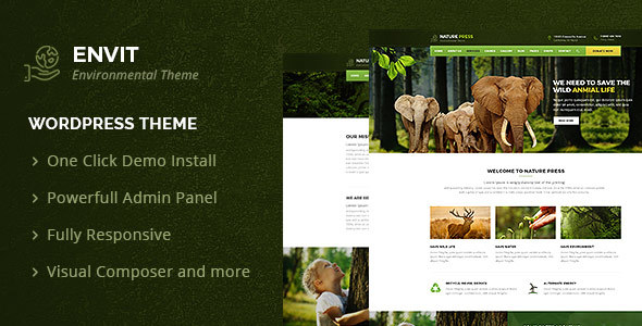Image of Envit – An Environmental WordPress theme