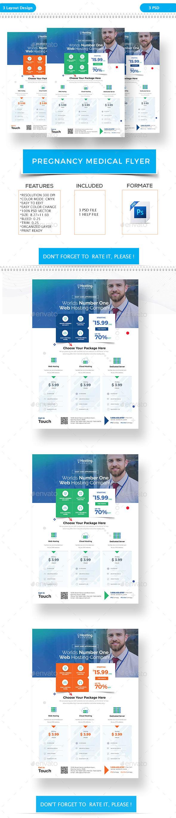 Web Hosting Flyers - Flyers Print Templates