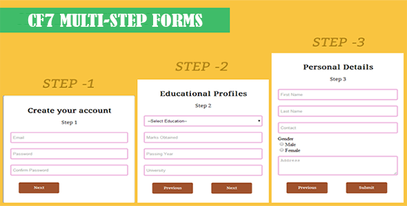Contact Form 7 - CF7 Multi-Step Forms - CodeCanyon Item for Sale