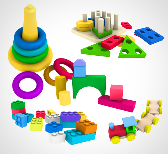 Kids Toy set 001 - 3DOcean Item for Sale